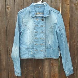 Dollhouse Jean Jacket size Large NWOT